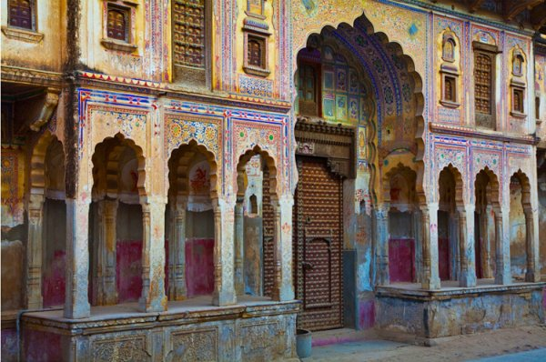 40.  Painted Haveli,   Fatehpur,  India