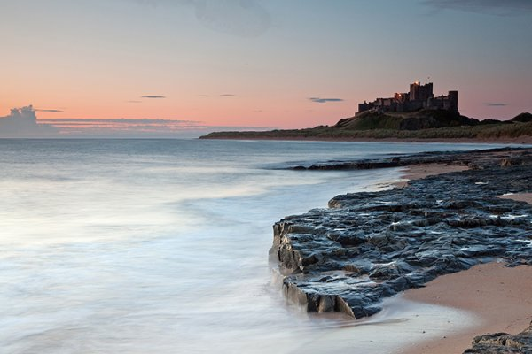 11.  Bamburgh Castle, dawn with high water