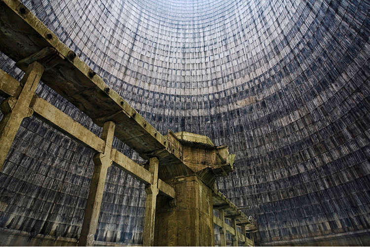 2.  Inside a cooling tower, Romania